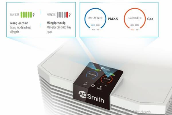 Hiển thị bụi siêu mịn PM2.5 tại thời gian thực được cấp bằng bảo hộ sáng chế