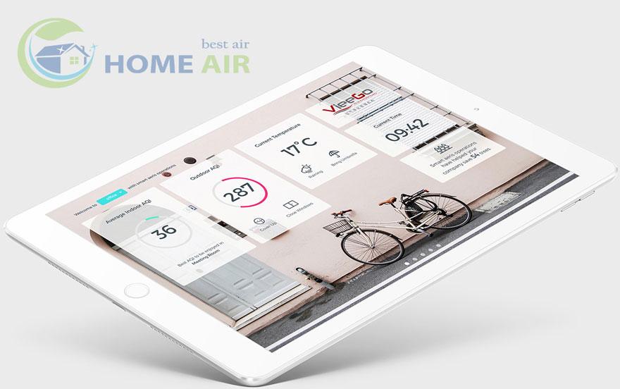 Điều khiển Aeris Aair Medical Pro thông minh bằng smartphone kết nối wifi