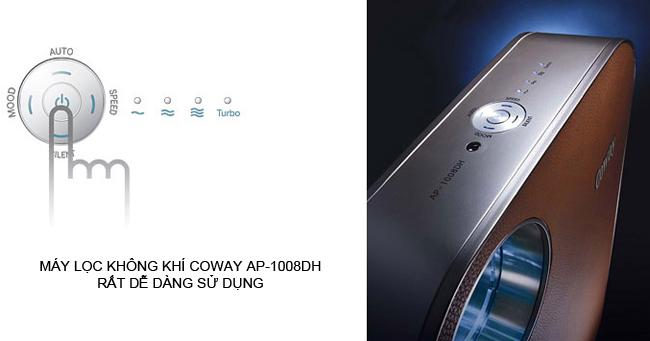 Bảng điều khiển Coway AP-1008DH đơn giản, trực quan và dễ dàng sử dụng