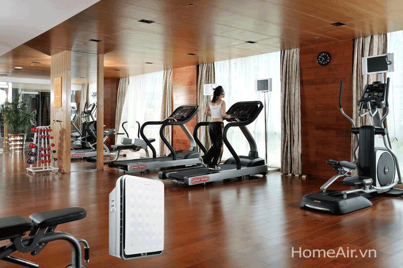 Diện tích phòng sử dụng lớn tới 100m2, sản phẩm phù hợp với phòng khách rộng, phòng họp, khu vực văn phòng, bệnh viện, trường học và quán cafe, nhà hàng.