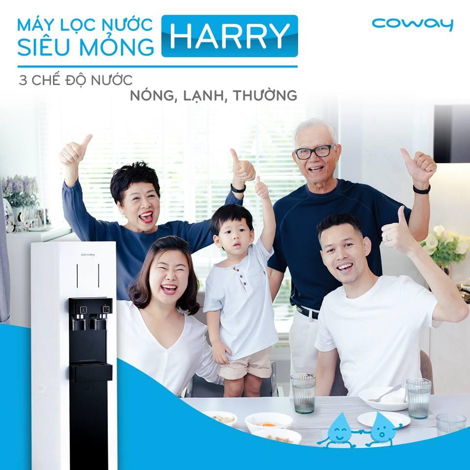 Máy lọc nước Coway HARRY (CHP-590R) ưa thích sử dụng cho cả gia đình và văn phòng