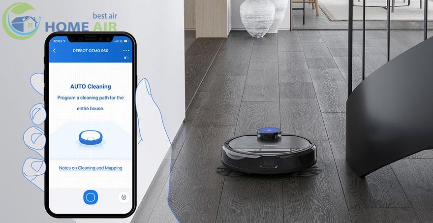 kết nối ứng dụng Ecovacs Home