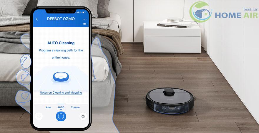 Kiểm soát với ứng dụng Ecovacs Home