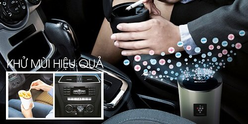 Máy lọc Sharp có khả năng khử mùi sau khi dùng bữa trên xe, sau khi hút thuốc và làm sạch mùi tại bộ phận điều hòa của xe.