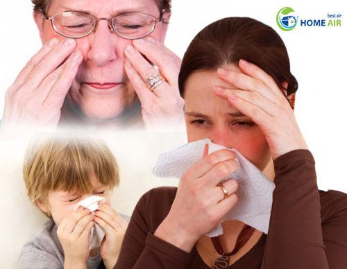 Danh sách các triệu chứng dị ứng hô hấp thường gặp trong nhà