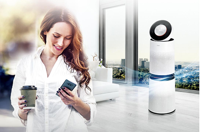 Hướng dẫn sử dụng máy lọc không khí LG PuriCare 360 độ 1 tầng/2 tầng