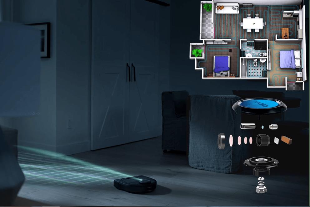 Robot hút bụi Neato Botvac D5 Connected được trang bị công nghệ điều hướng laser thông minh