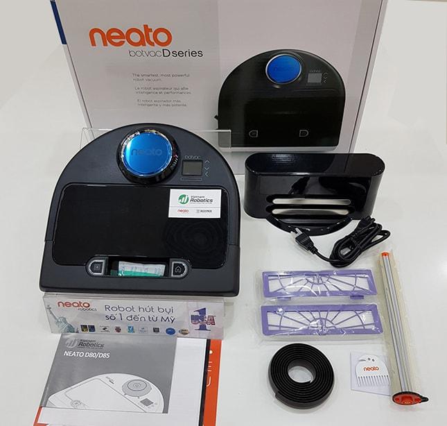 quy cách đóng gói của Robot hút bụi Neato Botvac D4 Connected