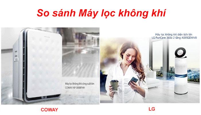So sánh máy lọc không khí LG và COWAY – lựa chọn nào TỐT nhất?