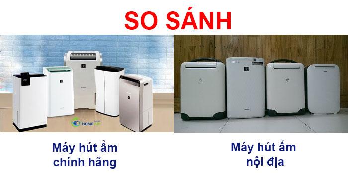 So sánh máy hút ẩm chính hãng và máy hút ẩm nội địa? Nên mua loại nào?