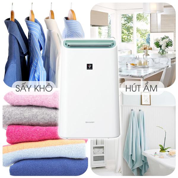 Chức năng 3 trong 1: Hút ẩm, Lọc không khí, Hong khô quần áo