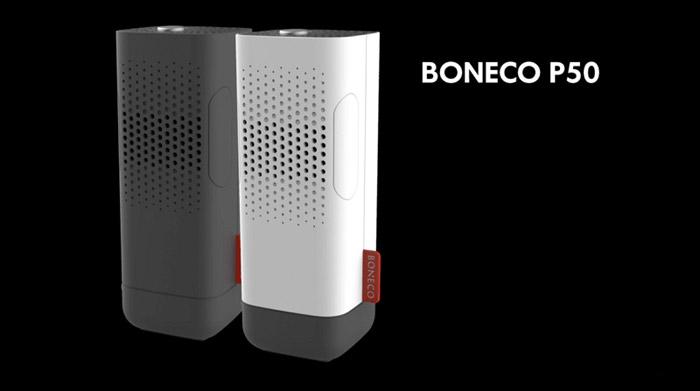 Máy lọc không khí trên ô tô Boneco P50 khá đẹp mắt